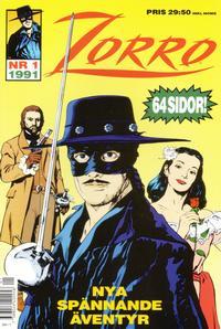Cover Thumbnail for Zorro (Serieförlaget [1980-talet]; Hemmets Journal, 1991 series) #1