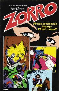 Cover Thumbnail for Zorro (Hemmets Journal, 1981 series) #2/1982
