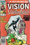 Cover Thumbnail for The Vision and the Scarlet Witch (1985 series) #11 [Newsstand]