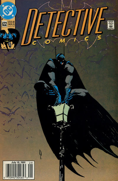 Cover for Detective Comics (DC, 1937 series) #632 [Direct]