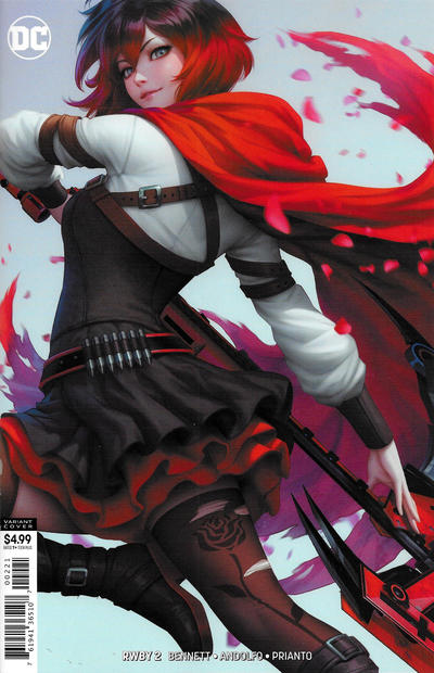 Cover for RWBY (DC, 2019 series) #2 [Artgerm Cardstock Variant Cover]