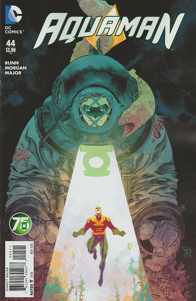 Cover for Aquaman (DC, 2011 series) #44 [Green Lantern 75th Anniversary Cover]