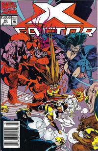Cover Thumbnail for X-Factor (Marvel, 1986 series) #80 [Newsstand]