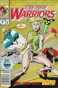 Cover Thumbnail for The New Warriors (Marvel, 1990 series) #30 [Newsstand]