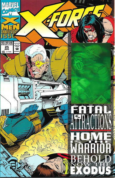 Cover for X-Force (Marvel, 1991 series) #25 [Direct Edition]