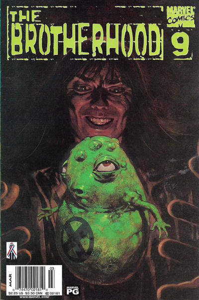 Cover for The Brotherhood (Marvel, 2001 series) #9 [Newsstand]