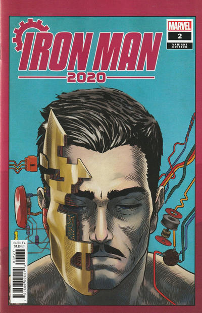 Cover for Iron Man 2020 (Marvel, 2020 series) #2 [Simone Bianchi 'Connecting' Cover]