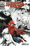 Cover for Amazing Spider-Man (Marvel, 2018 series) #25 (826) [Variant Edition - PX Previews / SDCC 2019 Exclusive - Ryan Ottley Partial Color Cover]