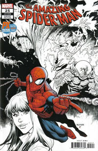Cover Thumbnail for Amazing Spider-Man (Marvel, 2018 series) #25 (826) [Variant Edition - PX Previews / SDCC 2019 Exclusive - Ryan Ottley Partial Color Cover]