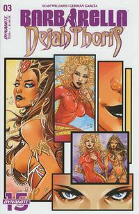 Cover Thumbnail for Barbarella/Dejah Thoris (Dynamite Entertainment, 2019 series) #3 [Cover A Laura Braga]