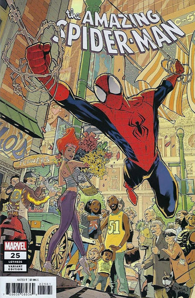 Cover for Amazing Spider-Man (Marvel, 2018 series) #25 (826) [Variant Edition - Comics Elite Exclusive - Ryan Brown Cover]