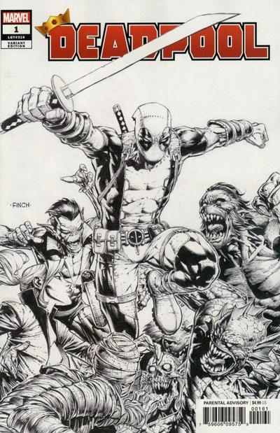 Cover for Deadpool (Marvel, 2020 series) #1 (316) [Carlos Gomez]