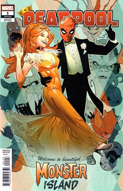 Cover for Deadpool (Marvel, 2020 series) #1 (316) [Greg Land]
