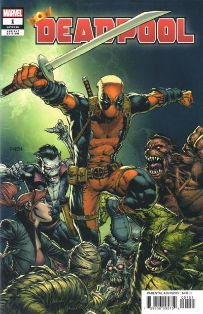 Cover for Deadpool (Marvel, 2020 series) #1 (316) [Blank Cover]