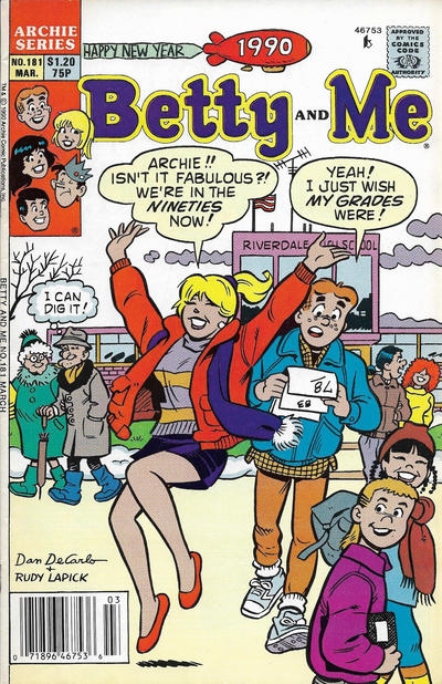 Cover for Betty and Me (Archie, 1965 series) #181 [Direct]