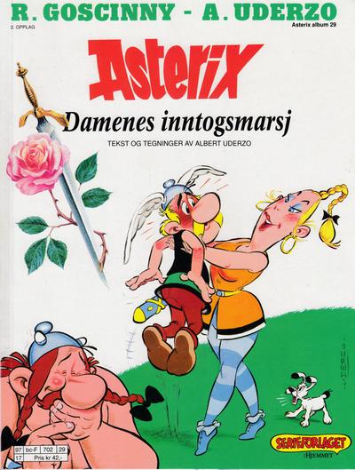 Cover for Asterix (Hjemmet / Egmont, 1969 series) #29 - Damenes inntogsmarsj [bc-F 127 10]