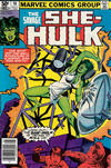 Cover for The Savage She-Hulk (Marvel, 1980 series) #16 [Newsstand]