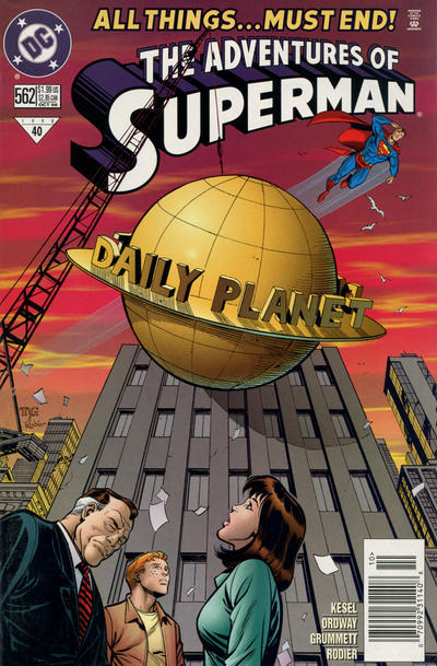 Cover for Adventures of Superman (DC, 1987 series) #562 [Direct Sales]