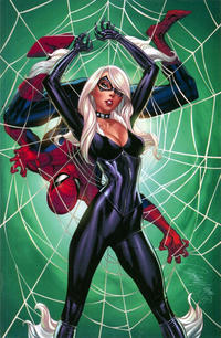Cover Thumbnail for Amazing Spider-Man (Marvel, 2018 series) #10 (811) [Variant Edition - Black Cat - J. Scott Campbell Virgin Cover]