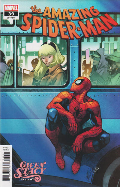 Cover for Amazing Spider-Man (Marvel, 2018 series) #39 (840) [Gwen Stacy Variant - Pepe Larraz Cover]
