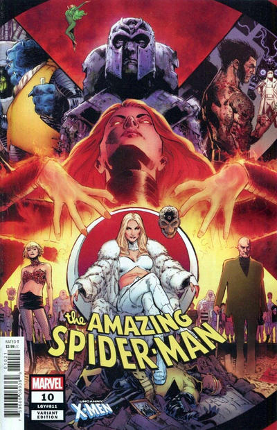 Cover for Amazing Spider-Man (Marvel, 2018 series) #10 (811) [Variant Edition - ComicXposure Exclusive - Lucio Parrillo Virgin Cover]