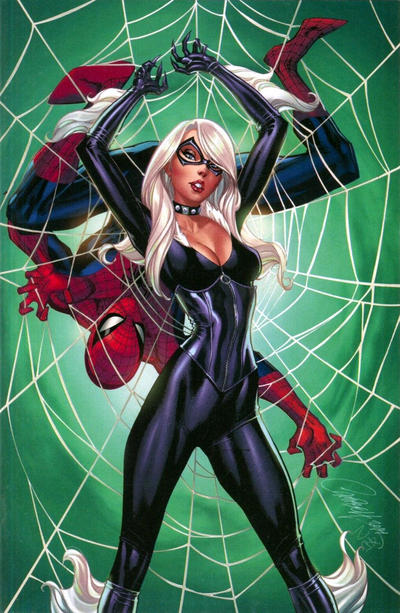 Cover for Amazing Spider-Man (Marvel, 2018 series) #10 (811) [Variant Edition - Black Cat - J. Scott Campbell Cover]