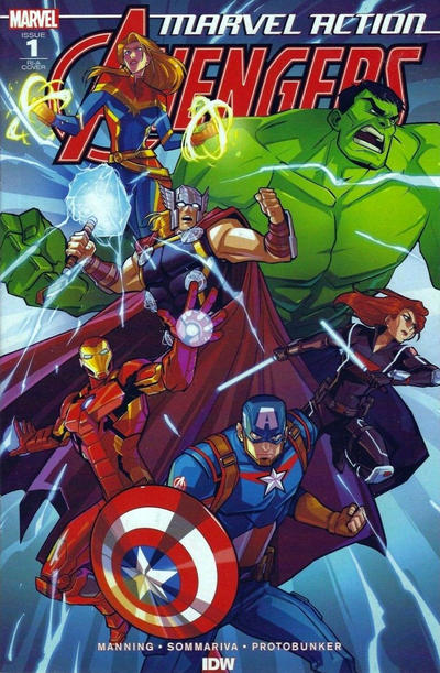Cover for Marvel Action: Avengers (IDW, 2018 series) #1 [Cover RE - Stadium Comics - Alex Milne Connecting]