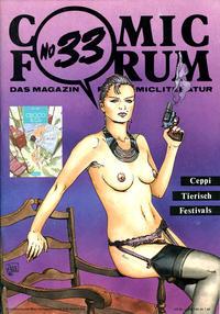 Cover Thumbnail for Comic Forum (Comicothek, 1979 series) #33