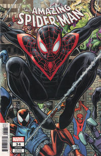 Cover for Amazing Spider-Man (Marvel, 2018 series) #34 (835) [2099 Variant - Pasqual Ferry Cover]