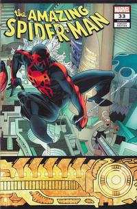 Cover Thumbnail for Amazing Spider-Man (Marvel, 2018 series) #33 (834) [Variant Edition - Hidden Gem - Rick Leonardi Wraparound Cover]