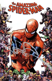 Cover Thumbnail for Amazing Spider-Man (Marvel, 2018 series) #28 (829) [Variant Edition - Marvel 80th Anniversary Frame - Humberto Ramos Cover]