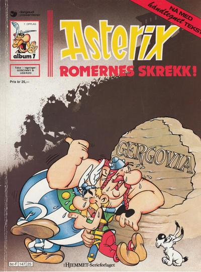Cover for Asterix (Hjemmet / Egmont, 1969 series) #7 - Romernes skrekk! [11. opplag]
