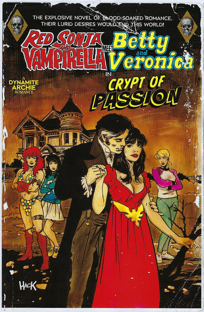 Cover for Red Sonja and Vampirella Meet Betty and Veronica (Dynamite Entertainment, 2019 series) #9 [Cover E Cat Staggs]