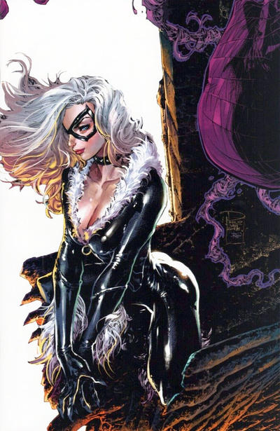 Cover for Amazing Spider-Man (Marvel, 2018 series) #1 (802) [Variant Edition - Comic Sketch Art Exclusive 'Black Cat' - Mark Brooks Virgin Cover]
