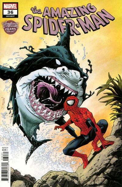 Cover for Amazing Spider-Man (Marvel, 2018 series) #36 (837) [Venom Island Variant - Declan Shalvey Cover]