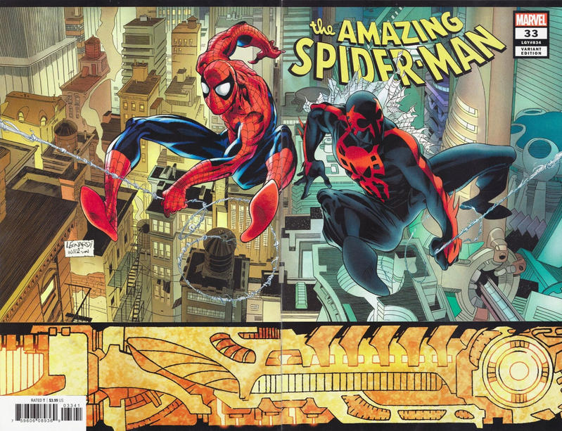 Cover for Amazing Spider-Man (Marvel, 2018 series) #33 (834) [2099 Variant - Miguel Mercado Cover]