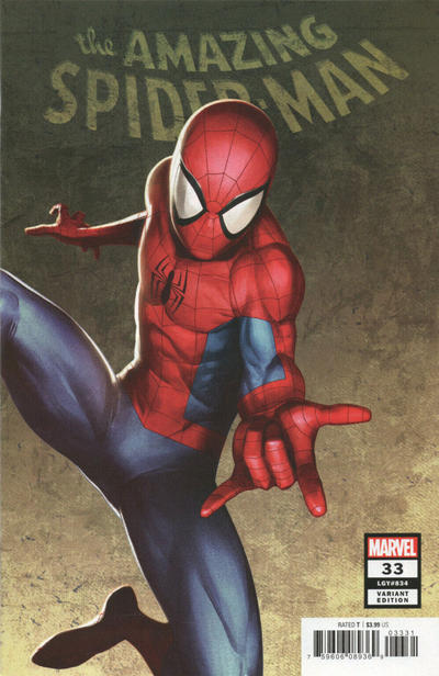 Cover for Amazing Spider-Man (Marvel, 2018 series) #33 (834) [Walmart Exclusive - Alex Ross Cover]