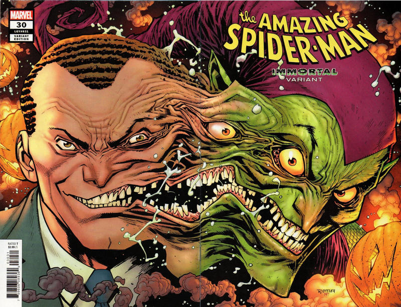 Cover for Amazing Spider-Man (Marvel, 2018 series) #30 (831) [Second Printing - Ryan Ottley Cover]