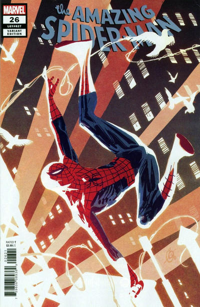 Cover for Amazing Spider-Man (Marvel, 2018 series) #26 (827) [Second Printing - Kev Walker Cover]