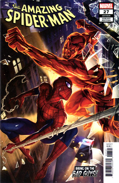 Cover for Amazing Spider-Man (Marvel, 2018 series) #27 (828) [Second Printing - Kev Walker Cover]