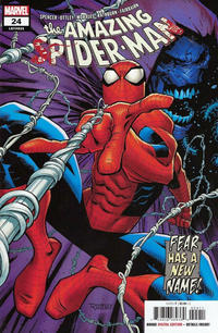 Cover Thumbnail for Amazing Spider-Man (Marvel, 2018 series) #24 (825) [Secret Variant - Carnage 'Bloody' Logo]