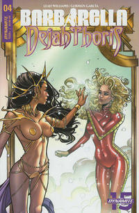 Cover Thumbnail for Barbarella/Dejah Thoris (Dynamite Entertainment, 2019 series) #4 [Cover A Laura Braga]