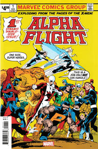 Cover Thumbnail for Alpha Flight #1 Facsimile Edition (Marvel, 2019 series)