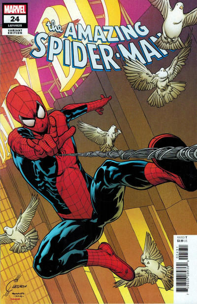 Cover for Amazing Spider-Man (Marvel, 2018 series) #24 (825) [Variant Edition - Comics Elite Exclusive - Ryan Brown Cover]