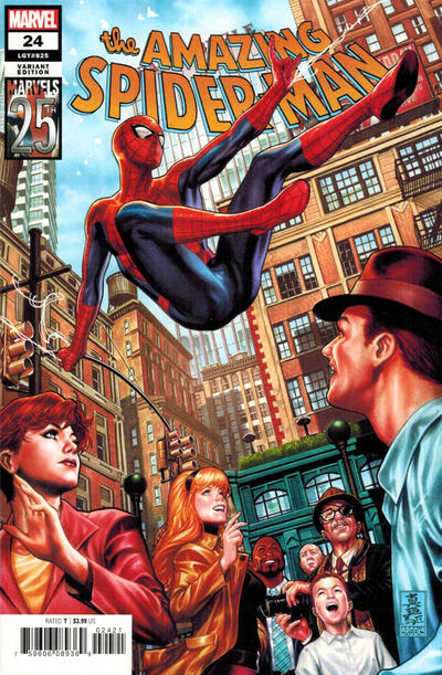 Cover for Amazing Spider-Man (Marvel, 2018 series) #24 (825) [Variant Edition - Marvels 25th Anniversary Tribute - Mark Brooks Cover]