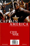 Cover for Captain America (Marvel, 2005 series) #24 [Newsstand]