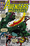 Cover Thumbnail for Avengers West Coast (1989 series) #54 [Mark Jewelers]
