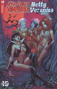 Cover Thumbnail for Red Sonja and Vampirella Meet Betty and Veronica (Dynamite Entertainment, 2019 series) #8 [Cover C Laura Braga]
