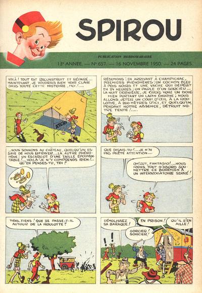 Cover for Spirou (Dupuis, 1947 series) #657
