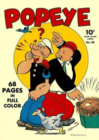 Cover Thumbnail for Four Color (Dell, 1942 series) #26 - Popeye